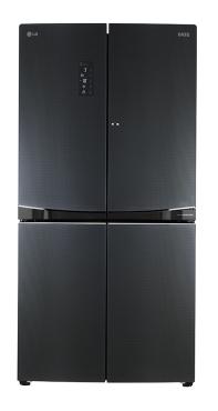 601L Net Luminous Black Glass 4 Door Refrigerator with Door in Door™
