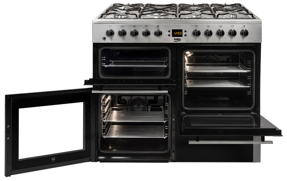 Freestanding 100cm double oven range cooker
