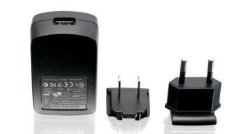 1A USB Power Adapter w/US & EU Plugs