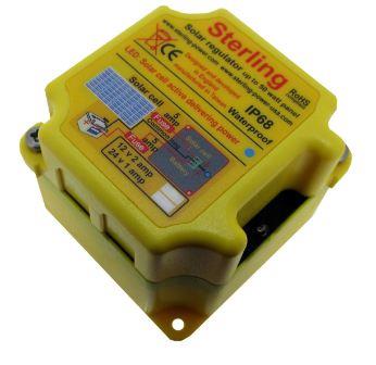 Solar Regulator, Small 2A Switching Regulator waterproof IP66