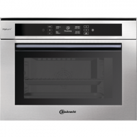 Built-in combi steamer with display