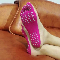 Barefoot Adhesive shoe sticked Nakefit shoes Flexible Feet protect stick on insoles