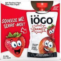 IÖGO 4*90 g pouches Apple-Strawberry