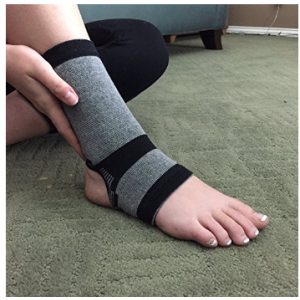Ankle Support - Bamboo Charcoal Technology - Self-Warming Ankle Sleeve - Medium