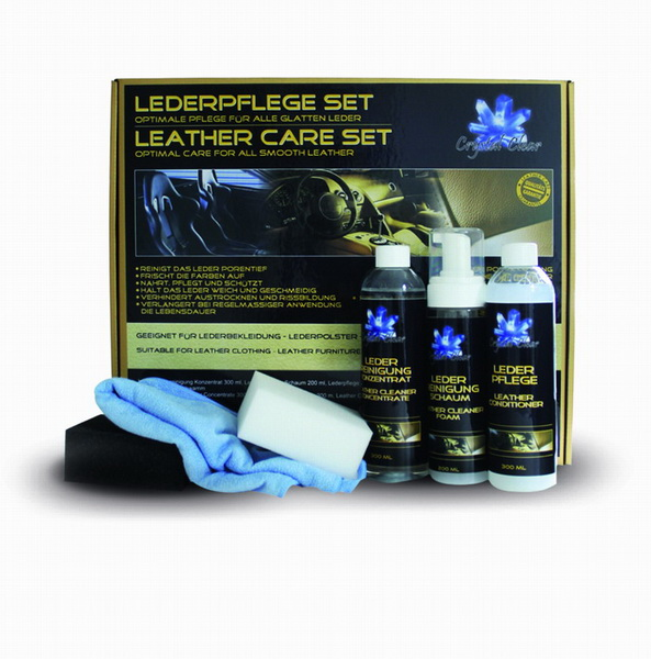 Crystal clear leather care
