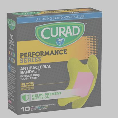 Curad Performance Series™ Assorted Colors, Knee/Elbow Antibacterial Bandage