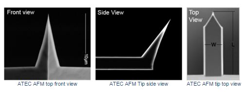 Advanced Tip at the End of the Cantilever™Non-Contact/Tapping Mode, Au coated