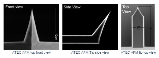 Advanced Tip at the End of the Cantilever Non-Contact/Tapping Mode, Pt/Ir coated