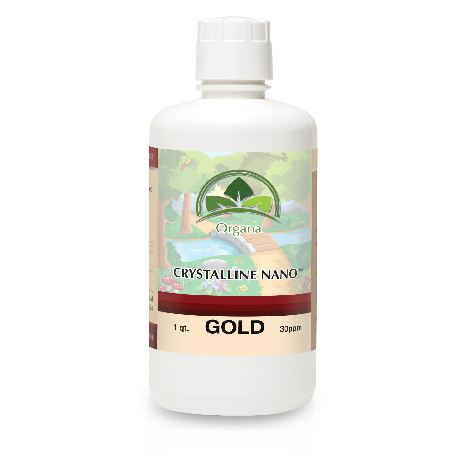 Organa Crystalline Nano Colloidal Gold Mineral 30 PPM