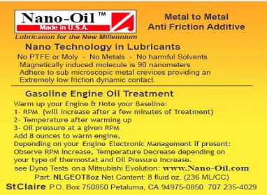 Automotive Nano-Oil