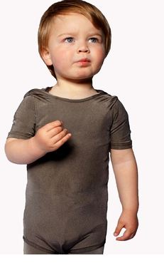 PADYCARE® short sleeve Baby body for atopic eczema