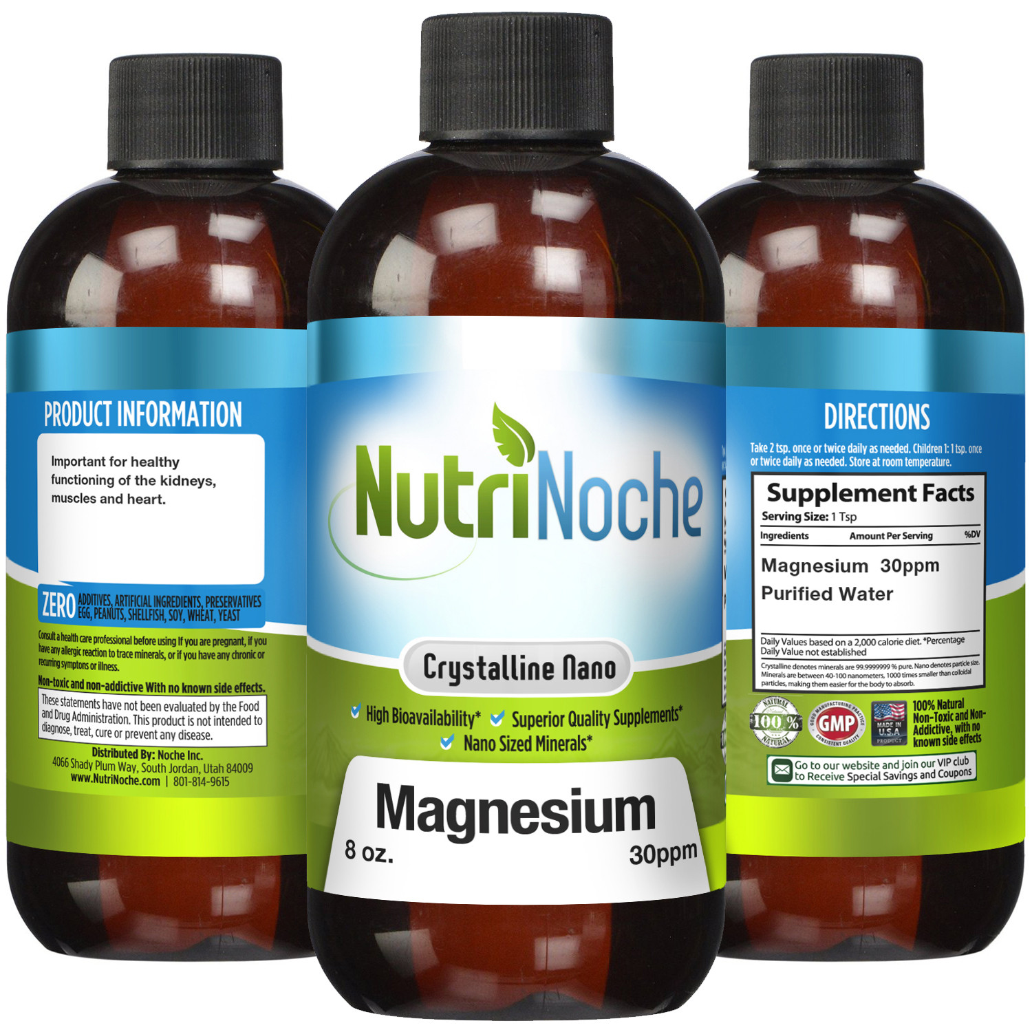 NutriNoche Magnesium Supplement 30 PPM Nano Magnesium