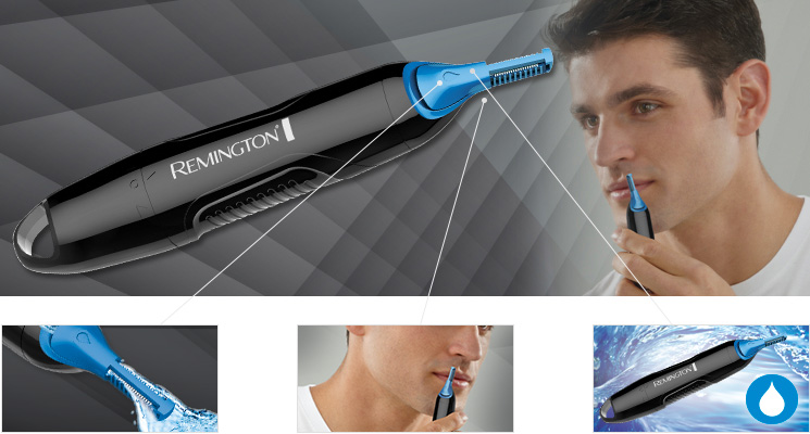 Nose and Ear Hair Trimmer With Wash Out System