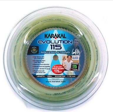 Karakal Evolution 115 Squash Strings 100M Coil
