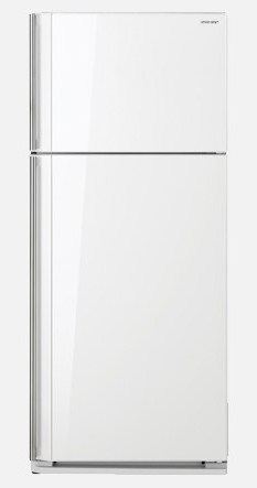 Top Mount Refrigerator with White Glass Door finish 585L