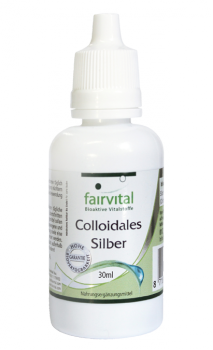 Fair Vital Colloidal silver 500ppm - 30ml non-ionic