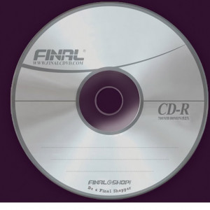 120 mm recordable compact disc (CD-R) with a capacity of 700 MB