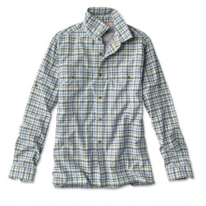 SANDPOINT PLAID JADE LONG-SLEEVED SHIRT