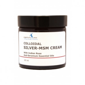 Silver-MSM Cream with Indian Rose and Geranium Essential Oils 60 ml
