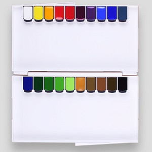 MISSION Gold Class Watercolors 7ml*36colors & Nano Silver Palette