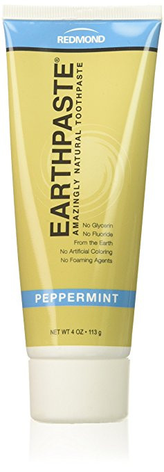 Redmond Earthpaste - Natural Non-Fluoride Toothpaste- Peppermint (3 pack- 3 x 4 Ounce Tube)