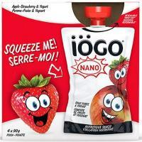 IÖGO 4*90 g pouches Apple-Strawberry