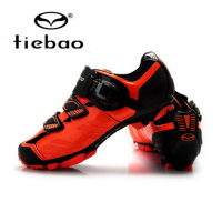 2017 Tiebao Racing Men MTB Mountain Bike Shoes Bicycle Cycling Shoes Self-Locking Nylon-Fibreglass Riding Shoes