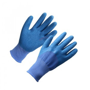13G Cheap nano metre latex 3/4 coated construction gloves