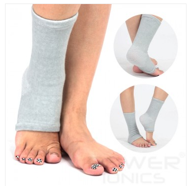 1 Pair Power Ionics Bamboo charcoal Fiber Ankle Brace
