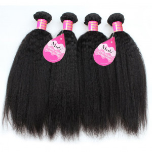Yaki Straight 4 Bundles Unprocessed Virgin Peruvian Human Wave Hair