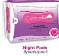 ANTI-BACTERIAL COTTON SANITARY NAPKIN night pads