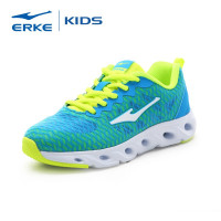 ERKE wholesale drop shipping brand black blue orange stock kids sports running shoes
