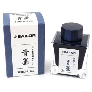 Sailor Sei-boku Nano Blue Black Fountain Pen Ink 50ml Bottle