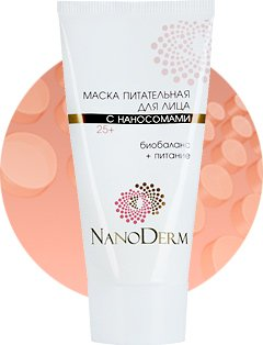 Nourishing mask for the face with Nanosomes 25+