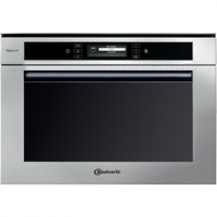 Microwave oven with combination forced air and grill