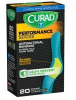 Curad Performance Series™ Assorted Colors, Standard Size Antibacterial Bandage