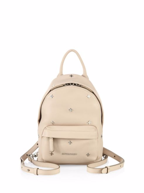 Nano Cross-Studded Leather Backpack