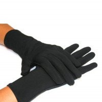 Proskins - GOLD Anti-ageing Black Gloves